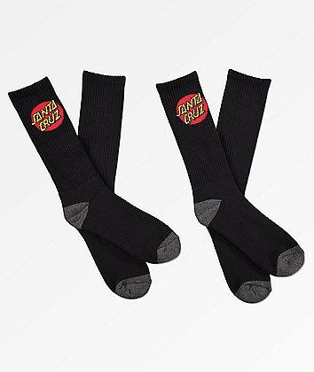 Santa Cruz paquete de 3 calcetines negros