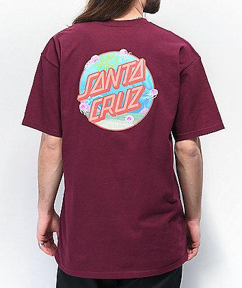 Santa Cruz x SpongeBob Jellyfishing camiseta borgoña