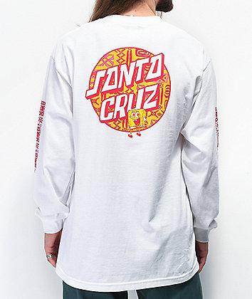 Santa Cruz x SpongeBob SquarePants Lounge White Long Sleeve T-Shirt