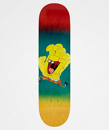 "Santa Cruz x SpongeBob SquarePants Spongehand 8.12"" tabla de skate"