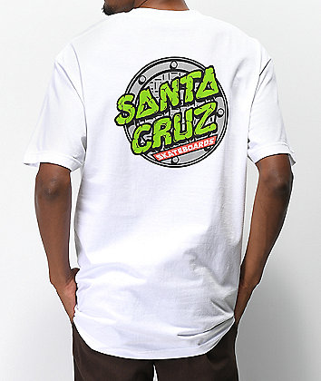 Santa Cruz x TMNT Sewer Dot White T-Shirt