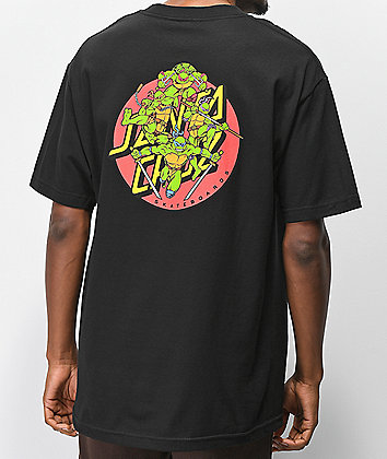 Santa Cruz x TMNT Turtle Power Black T-Shirt