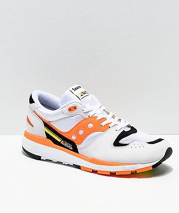 Saucony Azura White, Orange & Black Shoes