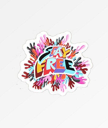 Sausage Stay Free Sticker