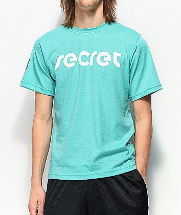 Secret Scientist Script Logo Mint Green T-Shirt