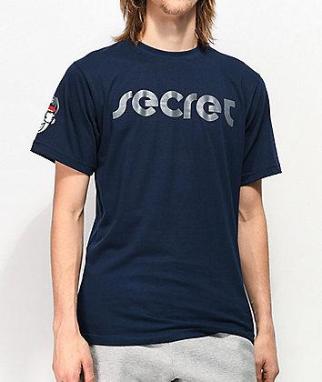 Secret Scientist Script Logo Navy T-Shirt