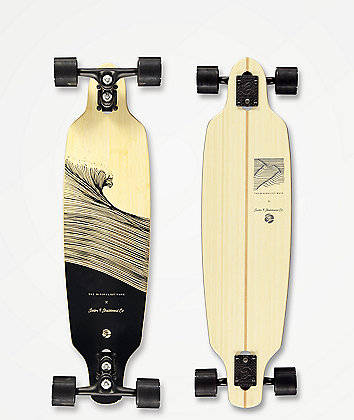 """Sector 9 x The Minimalist Wave Shacked Shoots 33.5"""" Drop Through Longboard Complete"""