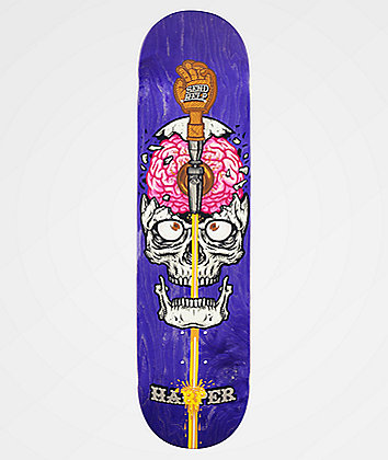 "Send Help Brain Drain 8.0"" Skateboard Deck"