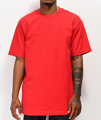 Shaka Wear Max Heavy Weight Red T-Shirt