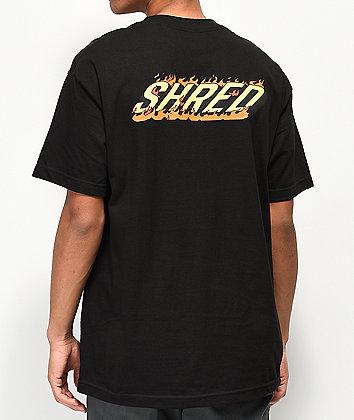 Shred Burning Sensation Black T-Shirt