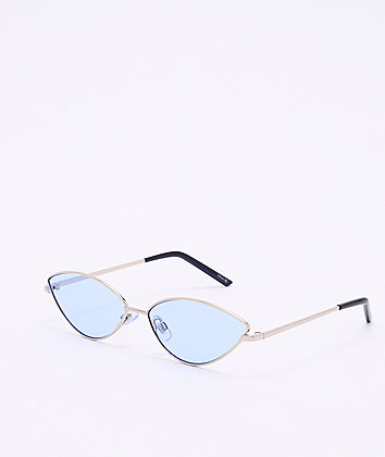Silver & Blue Cateye Sunglasses