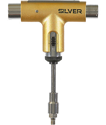 Silver Trucks Gold Skateboard Tool