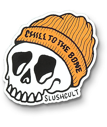Slushcult Chill To The Bone Sticker