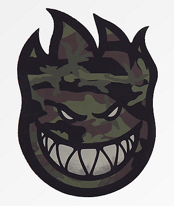 Spitfire Bighead Camo Prism Sticker