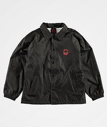 Spitfire Boys Bighead Black Coaches Jacket