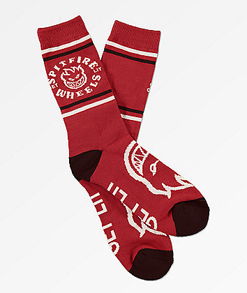 Spitfire Classic Bighead Red & Black Crew Socks
