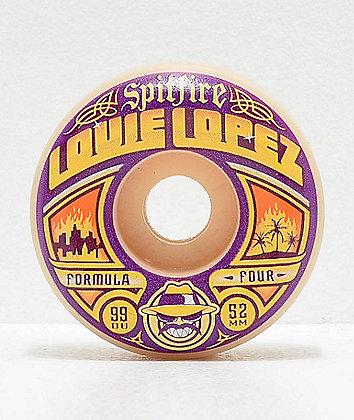 Spitfire Formula Four Lopez Especials Conical 52mm 99a Skateboard Wheels