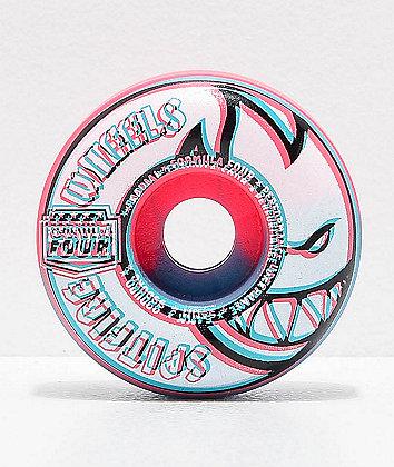 Spitfire Formula Four Radial Overlay Pink & Blue 54mm 99a Skateboard Wheels