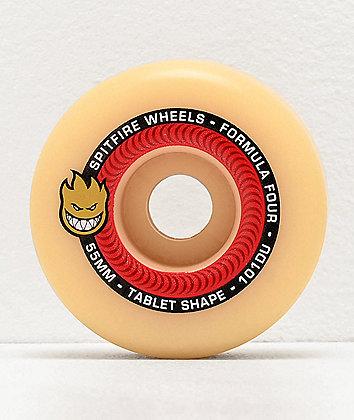 Spitfire Formula Four Tablet 55mm 101a Red & Natural Skateboard Wheels