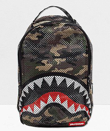 Sprayground Shark Camo Mesh Backpack