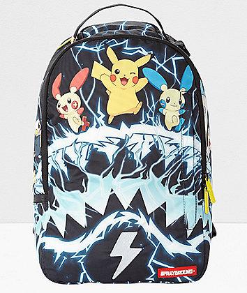 Sprayground x Pokemon Pikachu Electric Shark Backpack