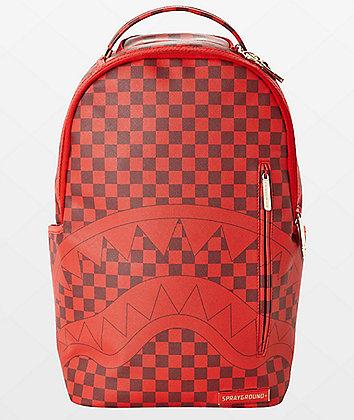 Sprayground x Todd Gurley Sharks In Paris Red Checkerboard Backpack
