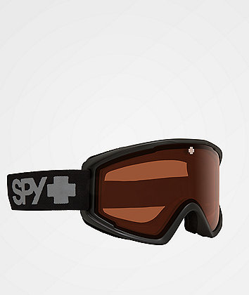 Spy Crusher Elite Black & Persimmon HD Snowboard Goggles