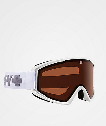 Spy Crusher Elite Matte White HD Persimmon Snowboard Goggles