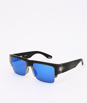 Spy Cyrus 5050 Matte Black & Blue HD+ Sunglasses