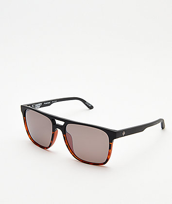 Spy Czar Matte Black & Tortoise Polarized Sunglasses