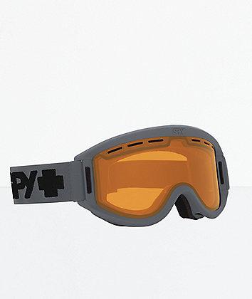 Spy Getaway Matte Grey & Persimmon Snowboard Goggles