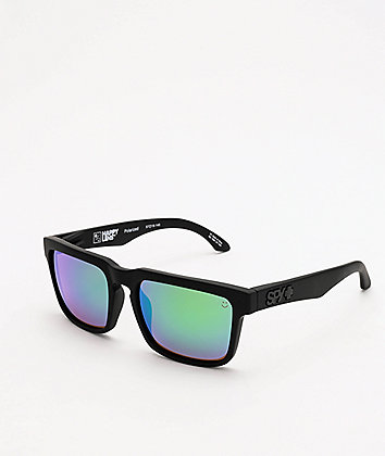 Spy Helm Happy Bronze & Green Spectra Polarized Sunglasses