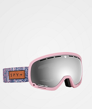 Spy Marshall Native Nature Pink HD Gray Green Snowboard Goggles