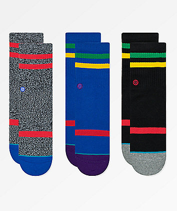 Stance Boys Bounce 3 Pack Crew Socks