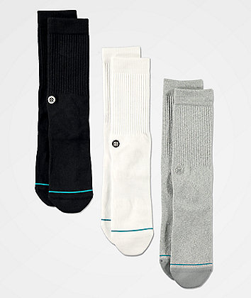 Stance Icon Multicolor 3 Pack Crew Socks