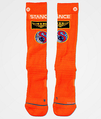 Stance Launch Pad Orange Snow Socks