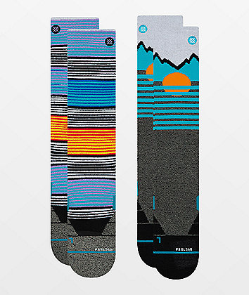 Stance Mountain Striped 2 Pack Snowboard Socks