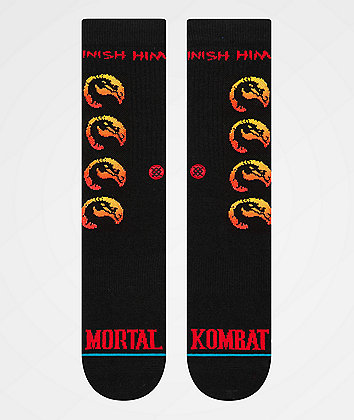 Stance x Mortal Kombat Finish Him Black Crew Socks