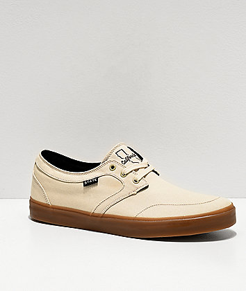 State Bishop Cali Cream & Gum Skate Shoes