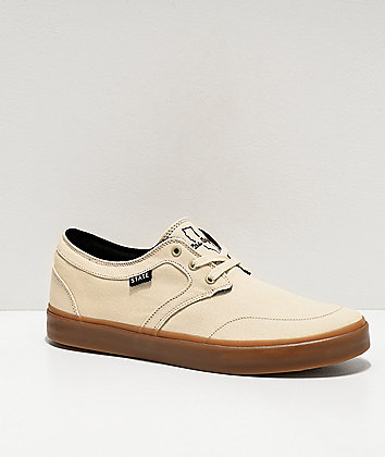 State Bishop Los Angeles Cream & Gum Skate Shoes