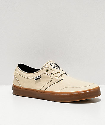 State Bishop Nor-Cal Cream & Gum Skate Shoes