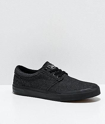 State Elgin San Antonio Black Denim Skate Shoes