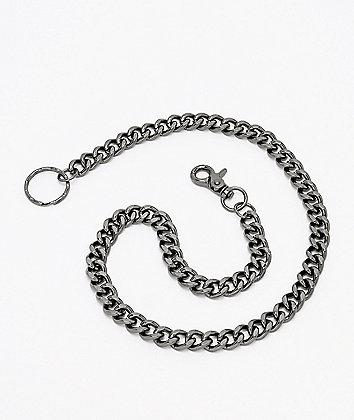 Stone + Locket Gunmetal Grey Wallet Chain