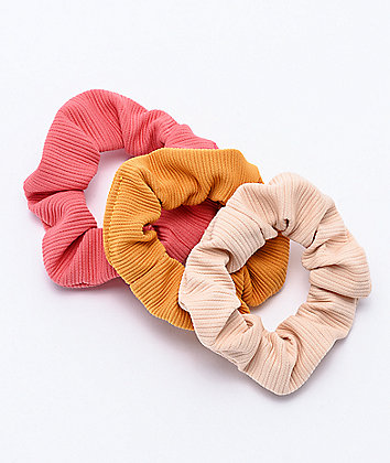 Stone + Locket Pink, Tan & Yellow 3 Pack Scrunchies