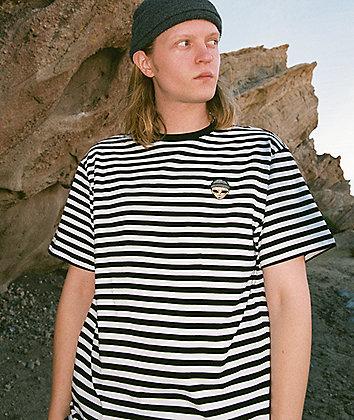 Succ Lil Mayo Black & White Striped T-Shirt