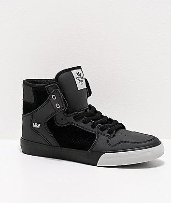 Supra Vaider Black & Light Grey Skate Shoes