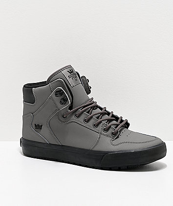 Supra Vaider Cold Weather Grey & Black Boots