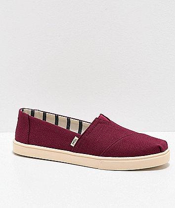 TOMS Alpargata Maroon Shoes
