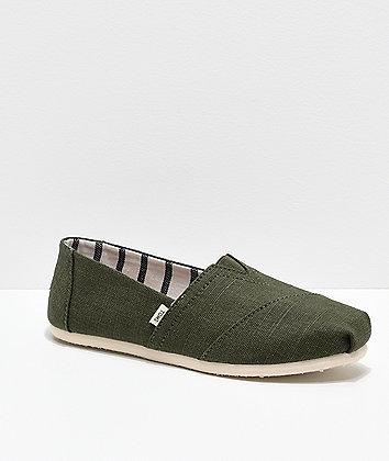 TOMS Alpargata Olive Shoes