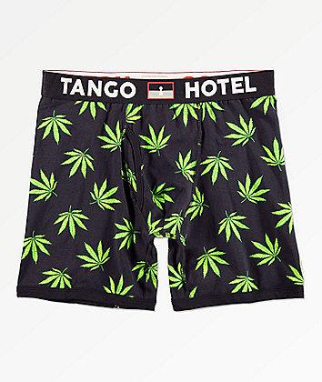 Tango Hotel Grass Black Boxer Briefs